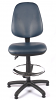 Juno Vinyl High Back Draughtsman Chair - Dark Blue3