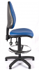 Juno Vinyl High Back Draughtsman Chair - Light Blue1