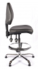 Juno Chrome Vinyl Medium Back Draughtsman Chair - Black1