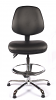 Juno Chrome Vinyl Medium Back Draughtsman Chair - Black3