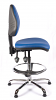Juno Chrome Vinyl Medium Back Draughtsman Chair - LBlue1
