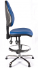 Juno Chrome Vinyl High Back Draughtsman Chair - LBlue1