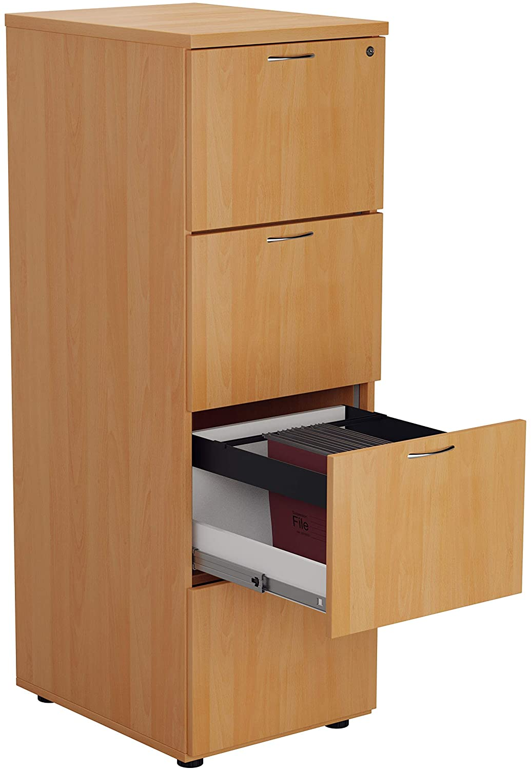 Picture of: Relax Office Relax Office Smart Wooden Filing Cabinet With 4 Drawers540mm Wooden Filing Cabinet With 4 Drawers Office Storage File Organizers Lockable