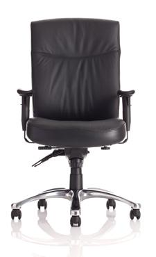 Marathon Leather 24 Hour Chair - Front