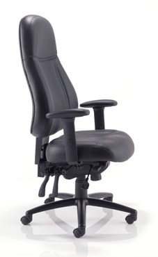 quality 24 hour leather office chair suitable for call centres and