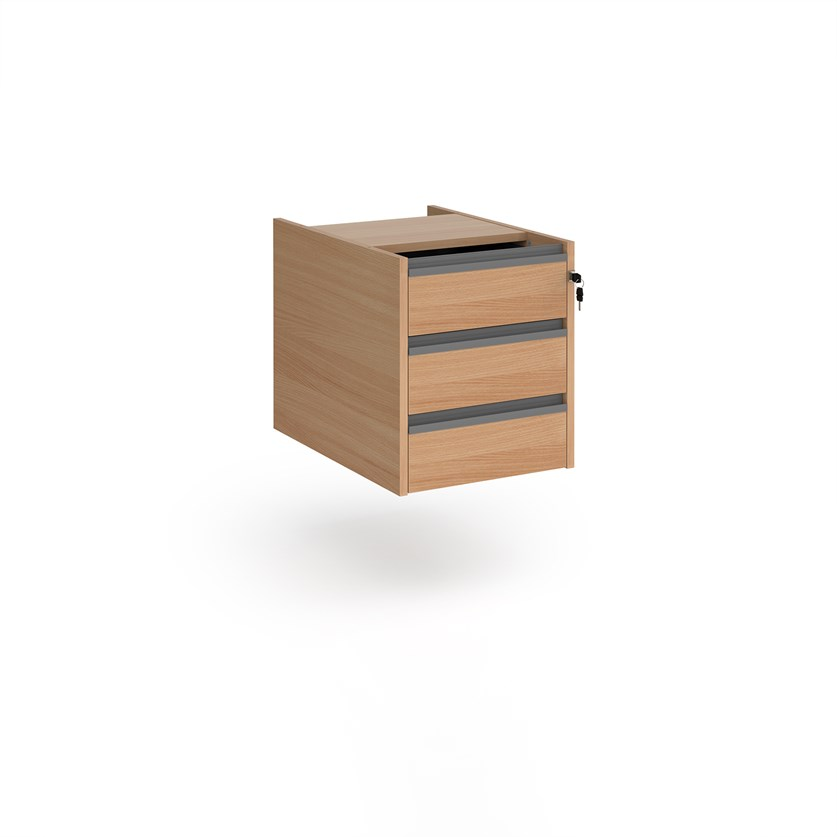 Relax Three Drawer Fixed Pedestal