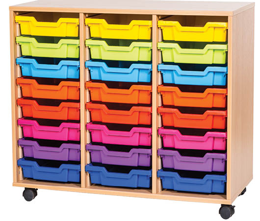 24 Tray Triple Storage Unit