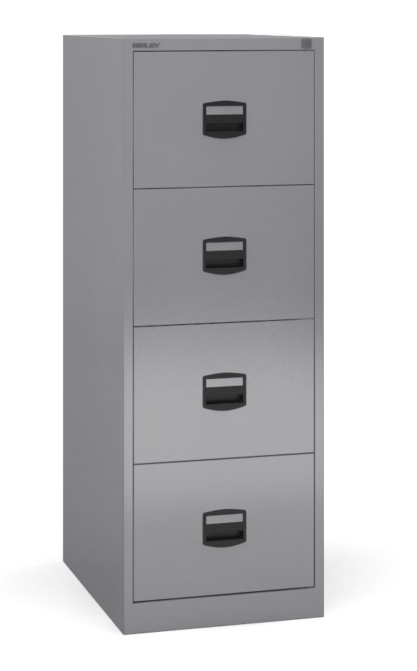 Bisley - 4 Drawer Metal Filing Cabinet