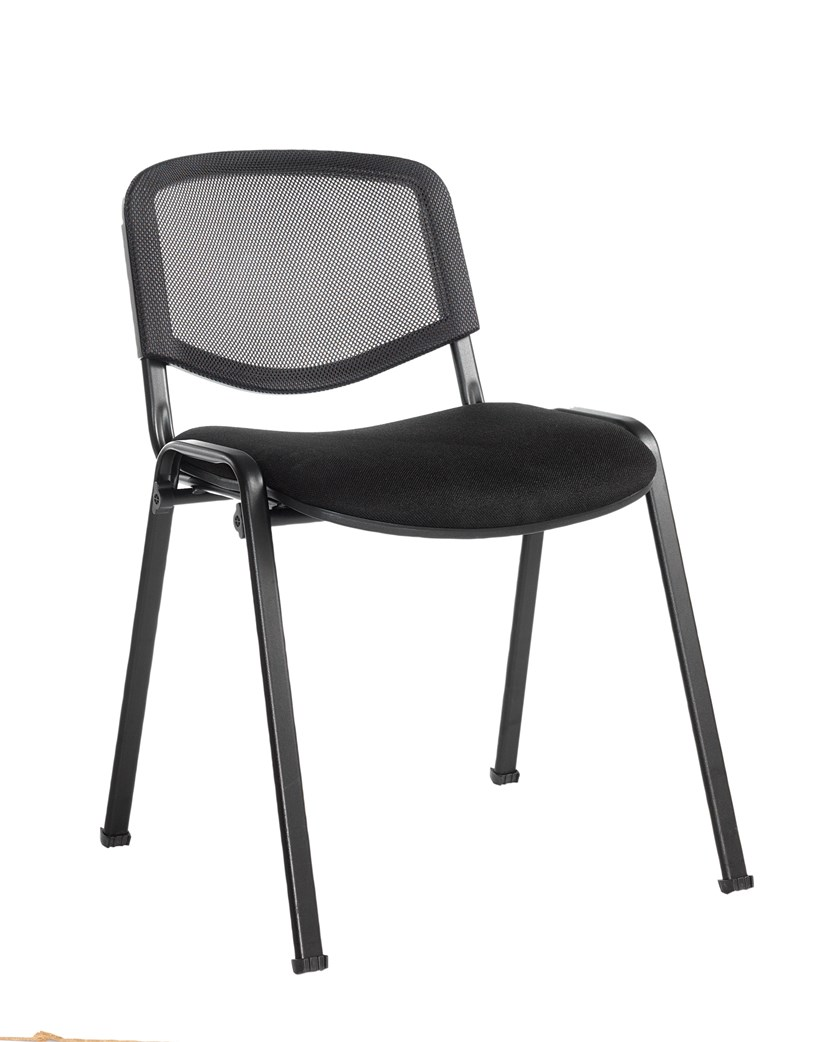 Taurus mesh back meeting room stackable chair- black