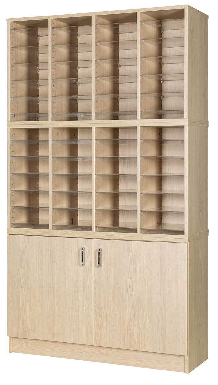 Premium Pigeonhole Unit With 48 Spaces and Cupboard