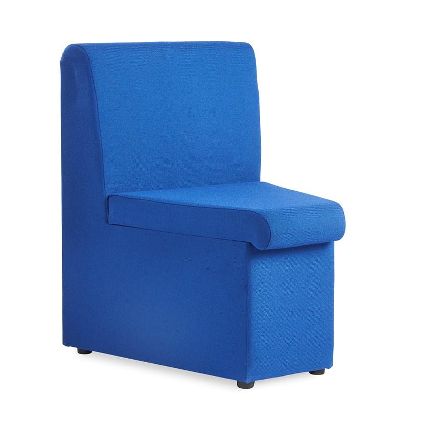 Alto modular reception seating concave with no arms - blue
