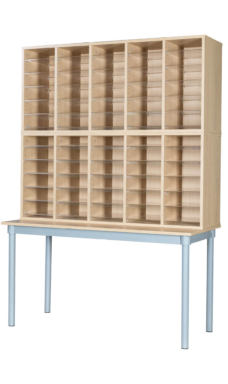 Premium Pigeonhole Unit With 60 Spaces and Table