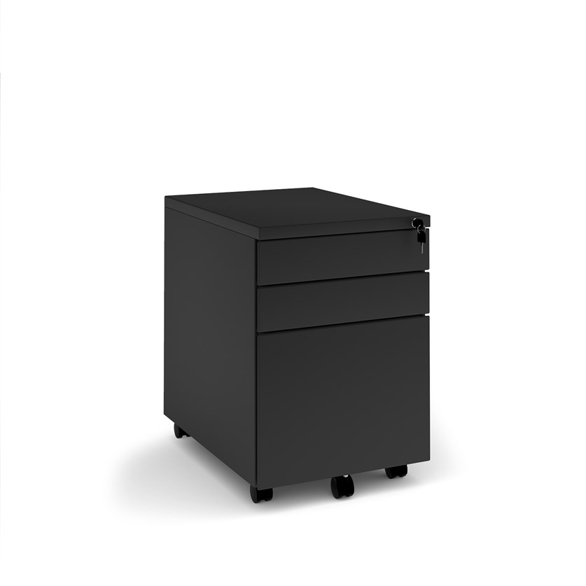 Relax Steel 3 drawer wide mobile pedestal