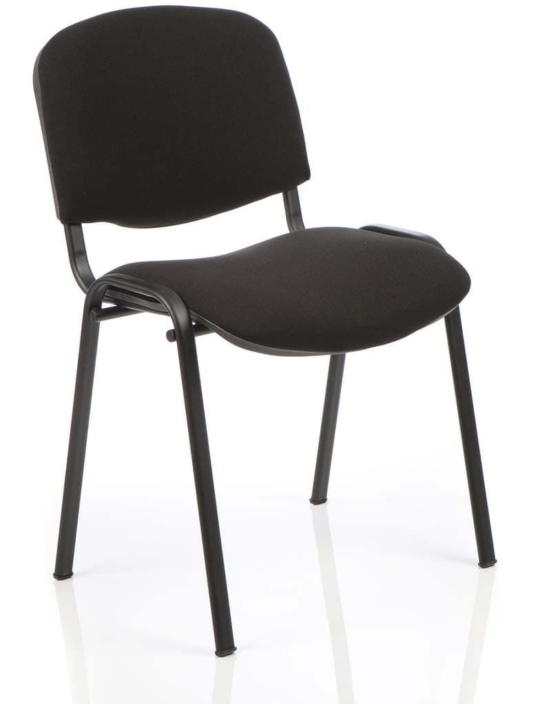 ISO Stacking Chair Black Frame Without Arms