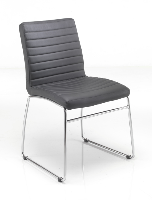 Lazio Chrome Frame Meeting Chair