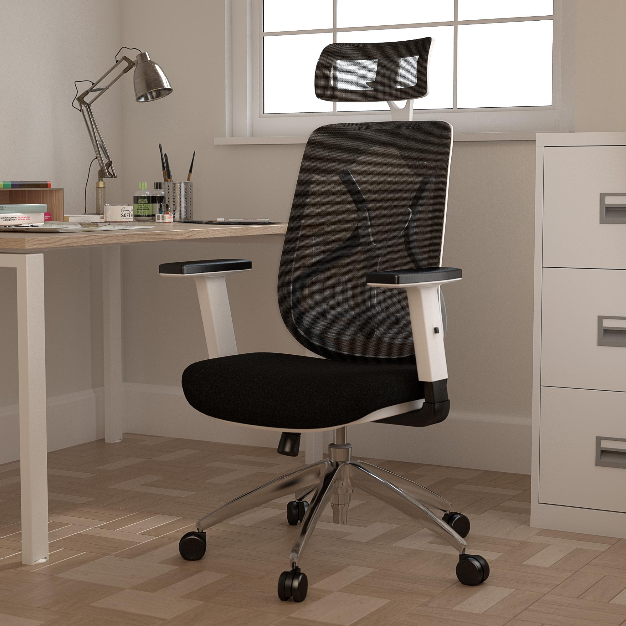 Maldini High Back Black Mesh Chair