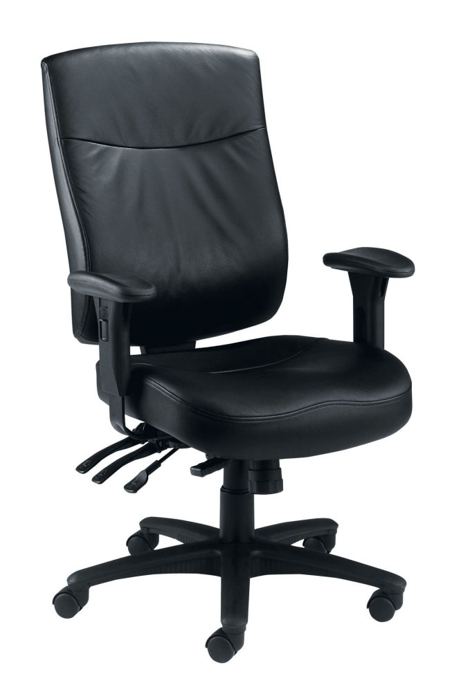 Marathon 24 Hour Leather Office Chair