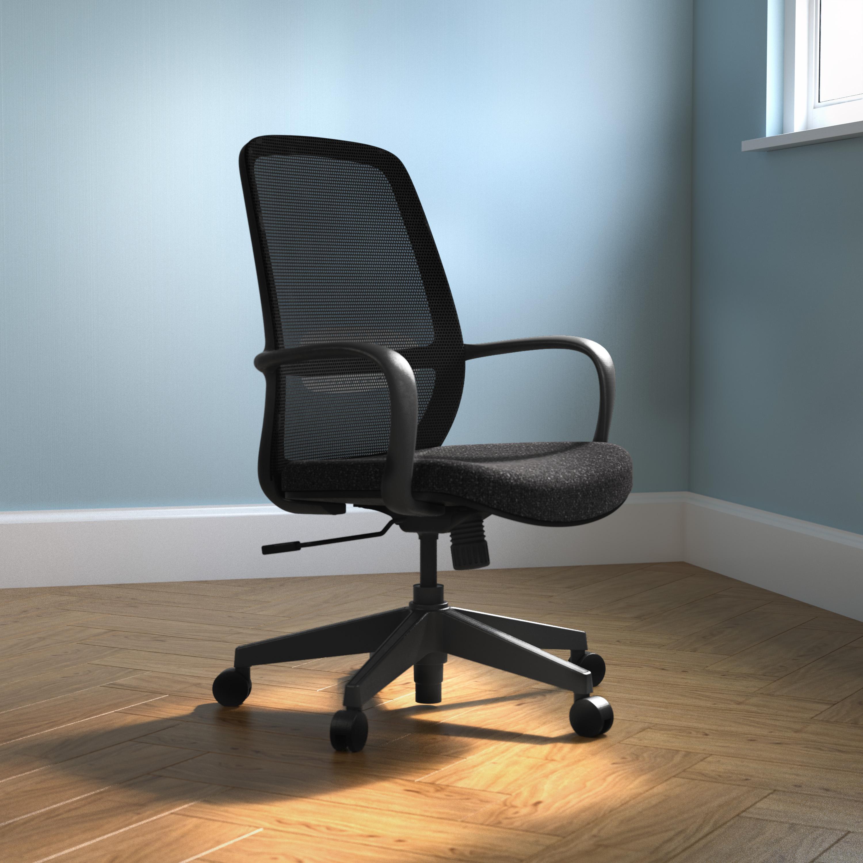Soho Task Chair – Black or White Frame with Black Mesh
