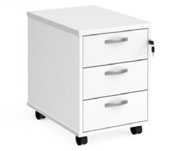 Relax Three Shallow Drawer Mobile Pedestal