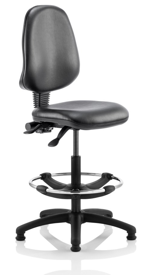 Eclipse 2 Vinyl Draughtsman Chair