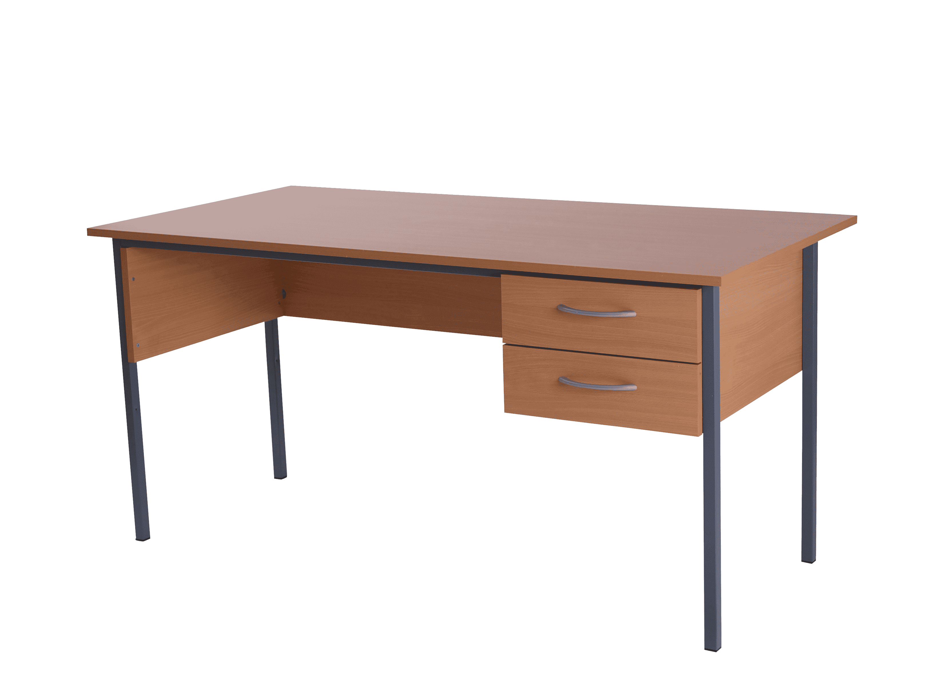 Basix 1500 Admiralty desk with 2 standard drawers