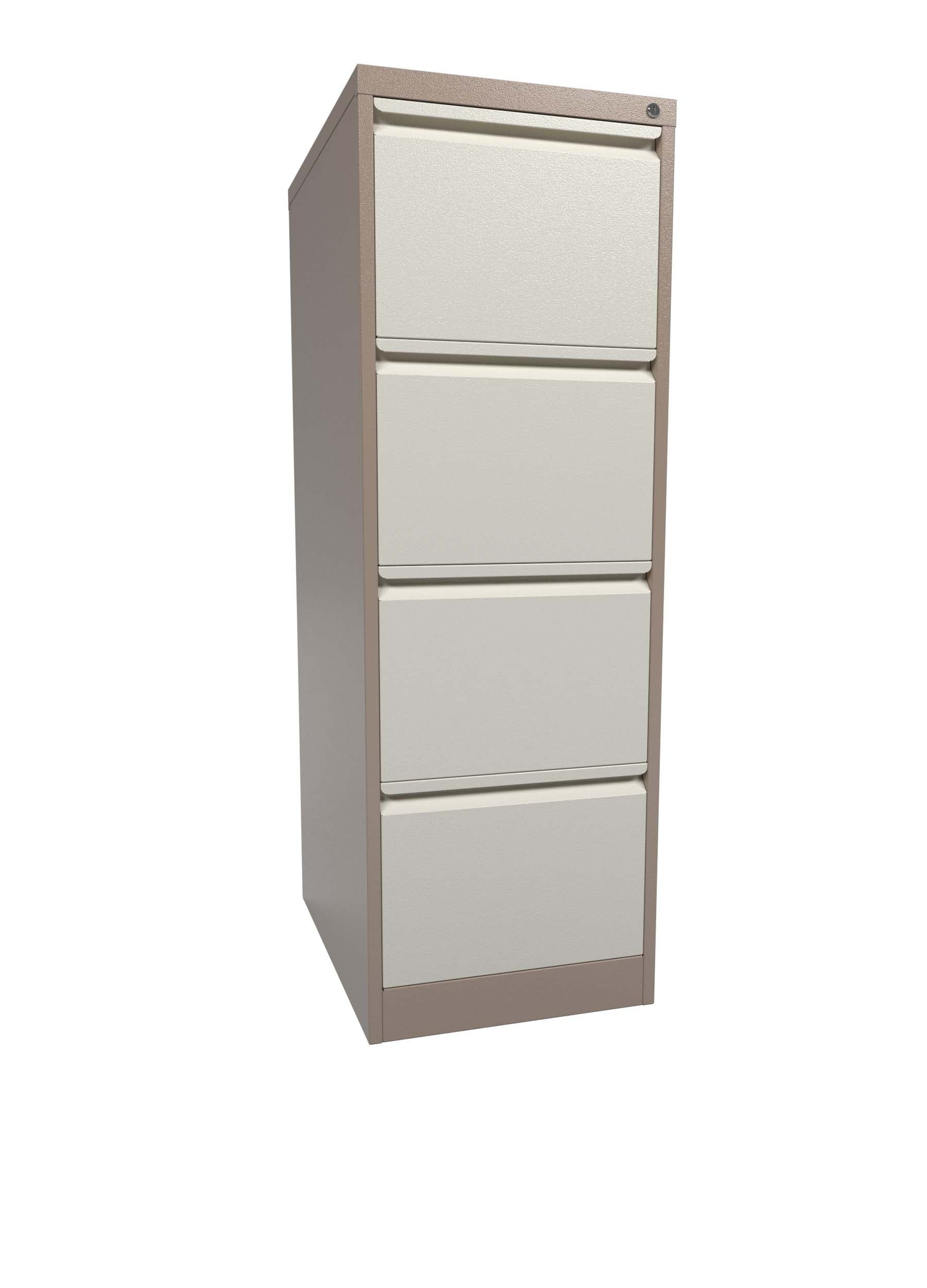 Graviti Contract 4 Drawer Filing Cabinet Coffee Cream Assembled