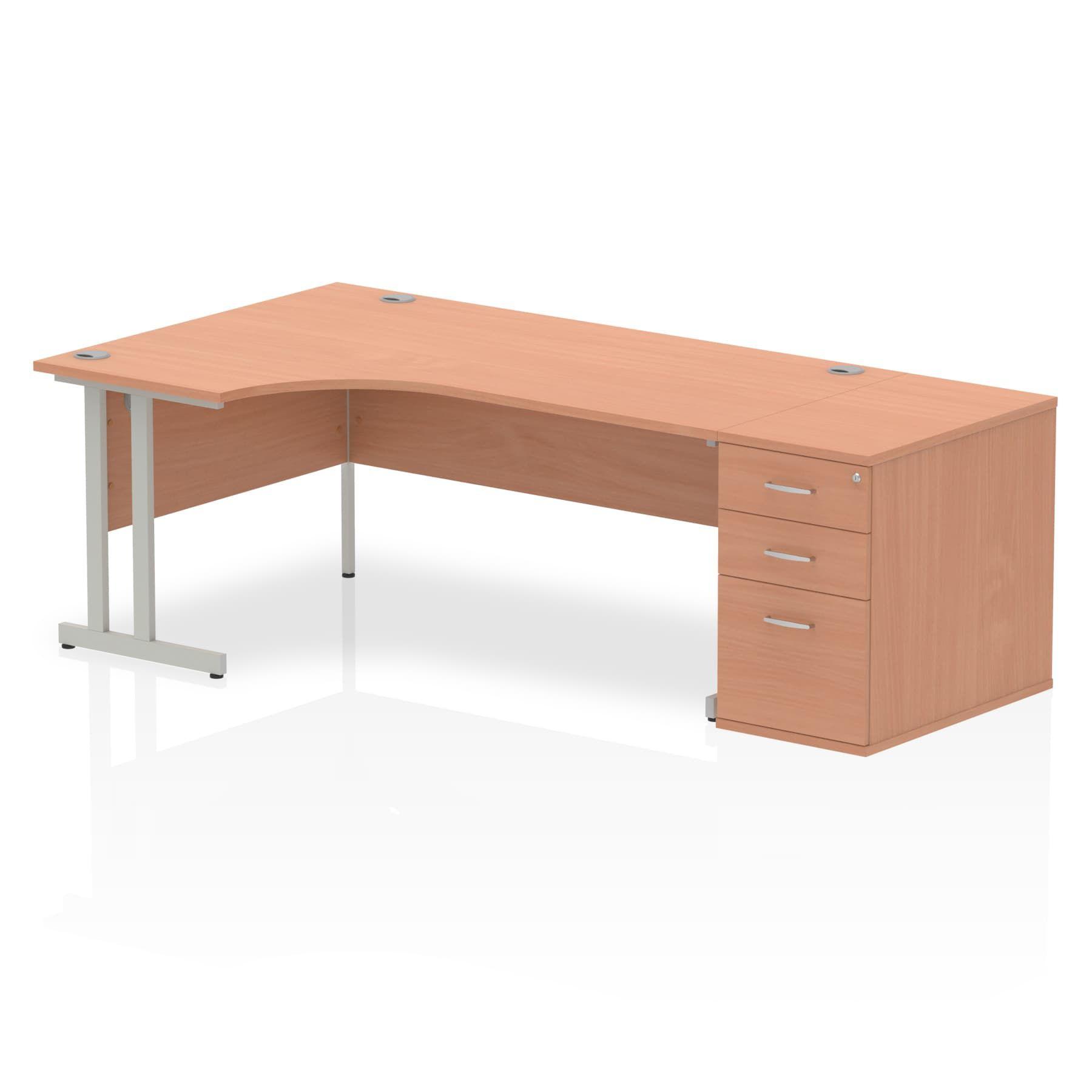Impulse 1800 Left Hand Cantilever Workstation 800mm Depth Pedestal Bundle