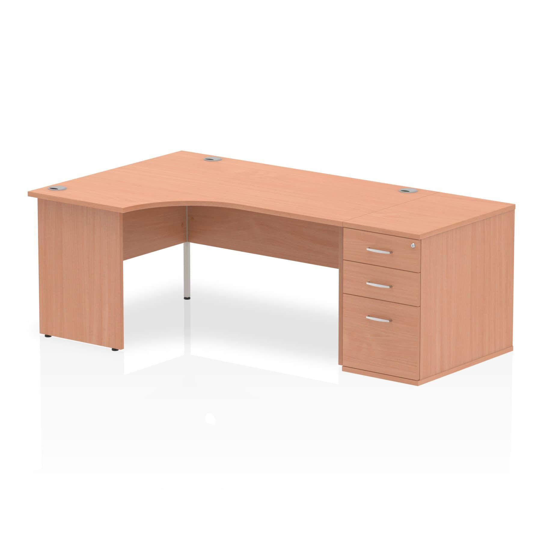Impulse 1600 Left Hand Panel End Workstation 800mm Depth Pedestal Bundle