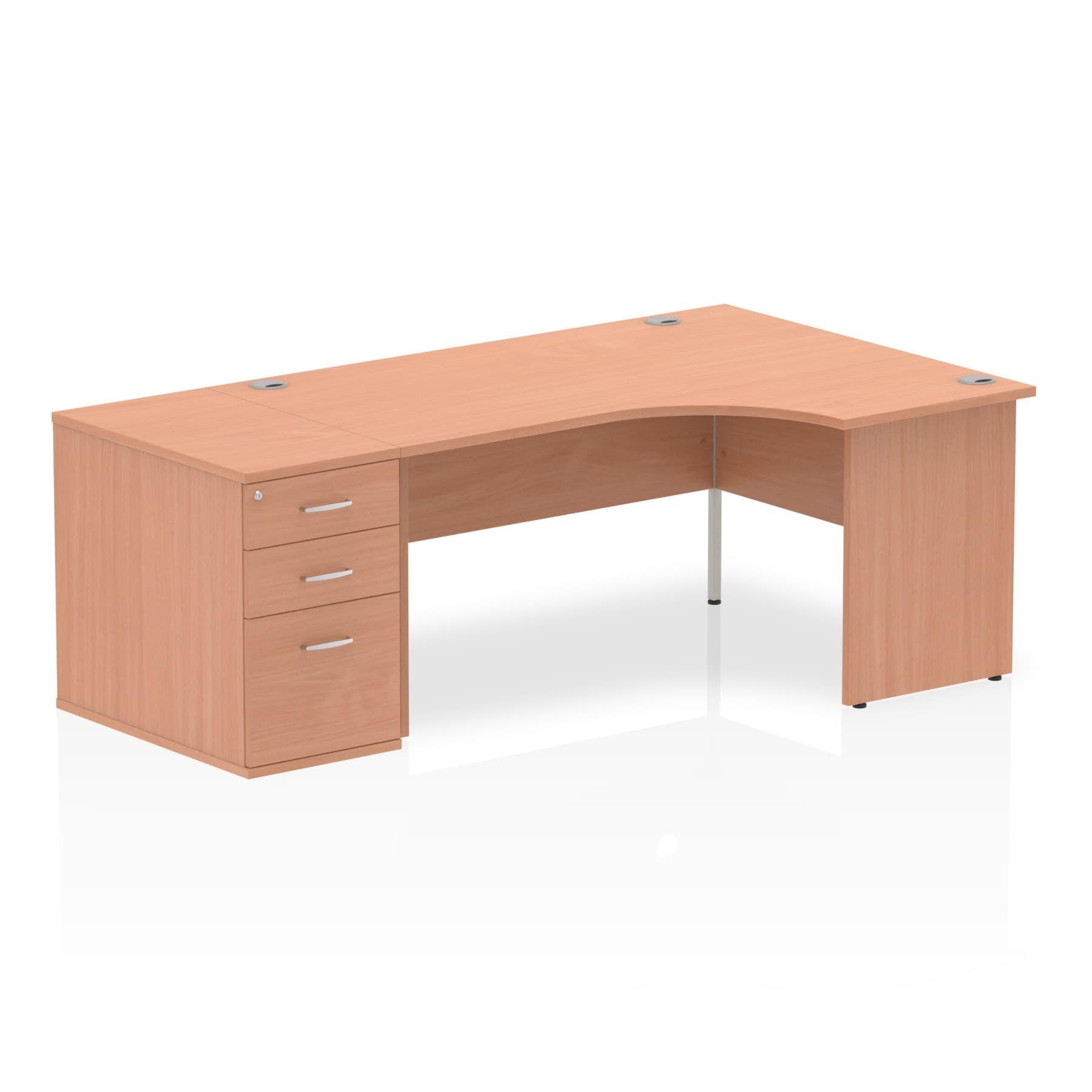 Impulse 1600 Right Hand Panel End Workstation 800mm Depth Pedestal Bundle