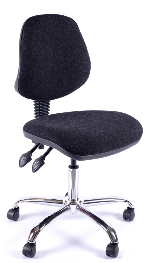 Juno Chrome Medium Back Operator Chair