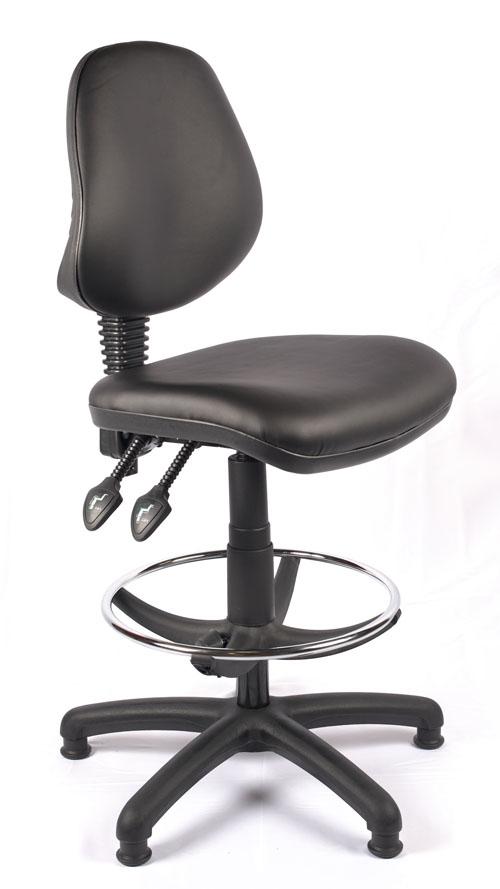 Juno Vinyl Medium Back Draughtsman Chair