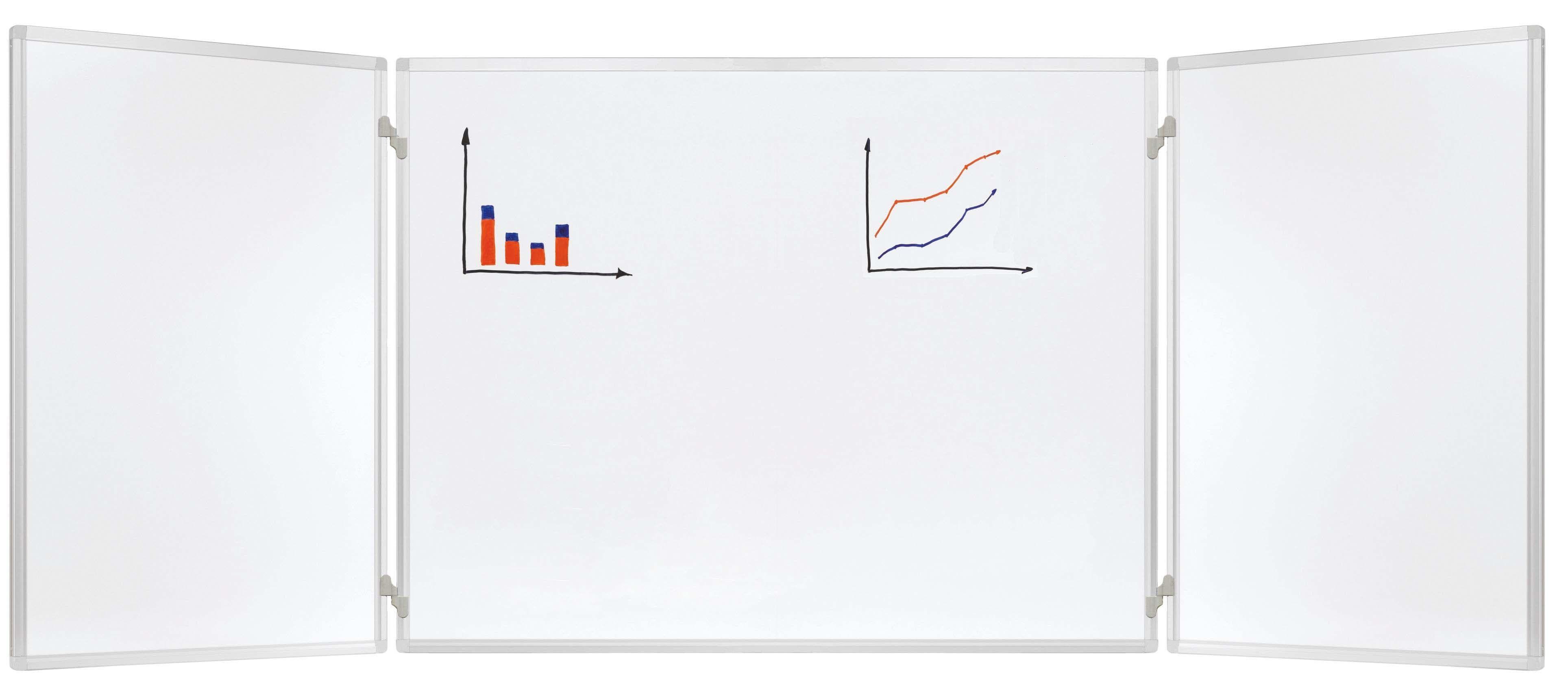 Folding board system, trio, 2 board swinggings, 60 x 90 cm, lacquered steel