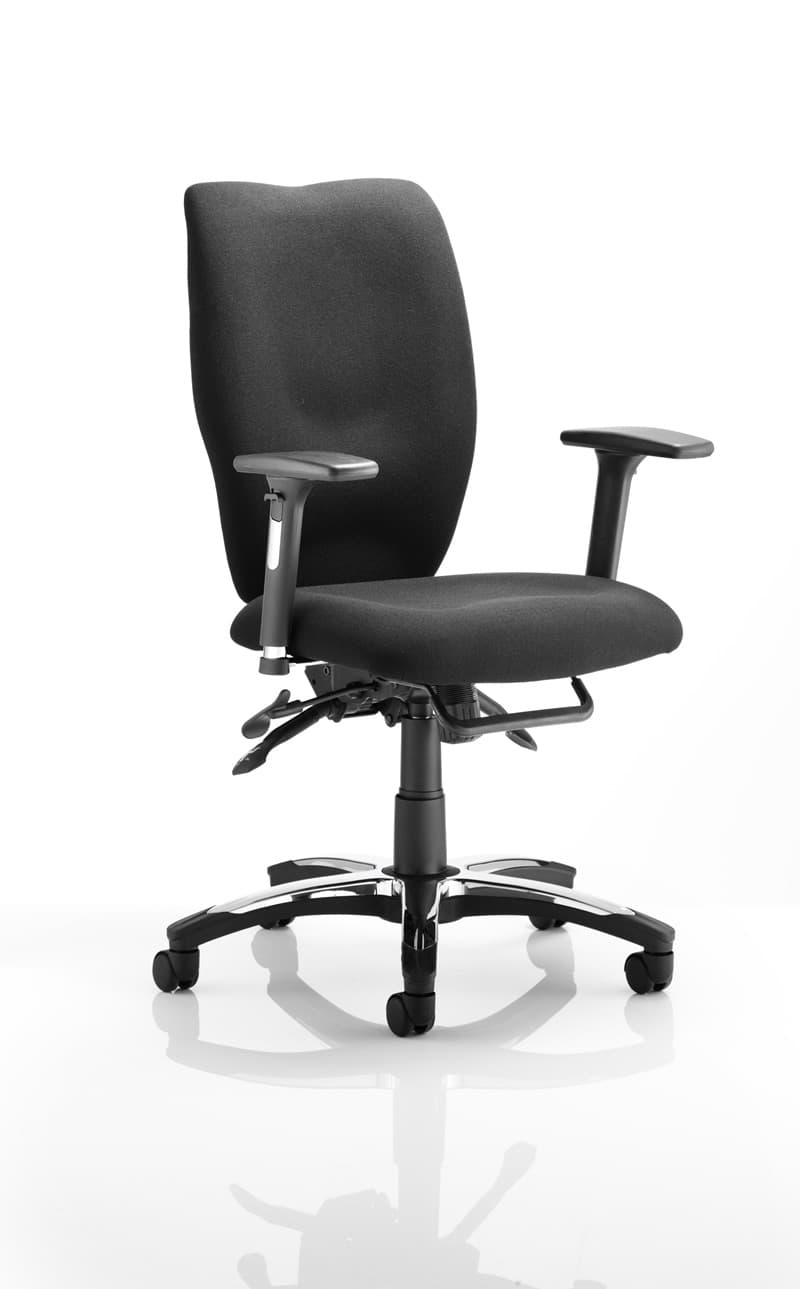 Sierra Task Chair Black Fabric With Arms