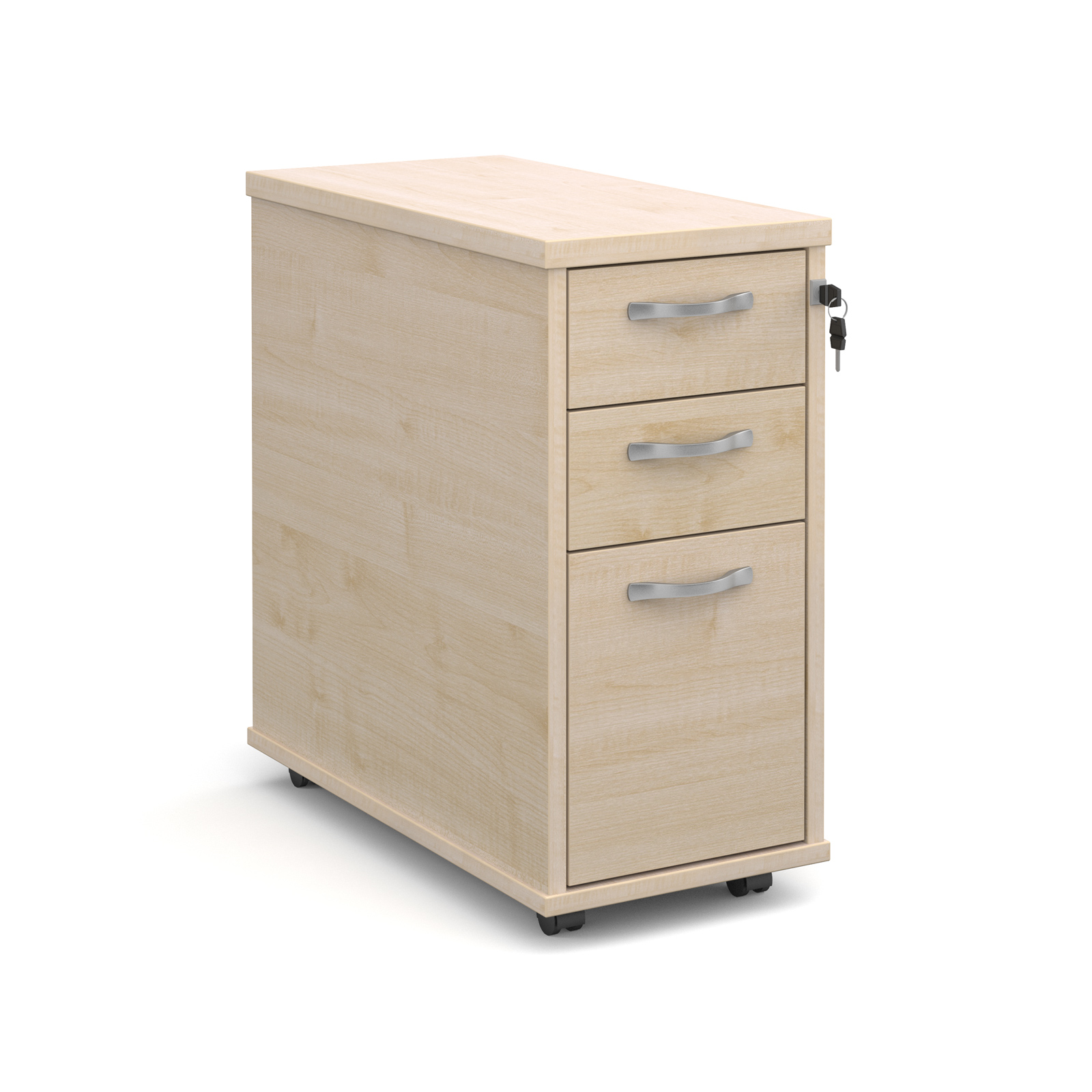 Relax Tall Slimline Three Drawer Mobile Pedestal