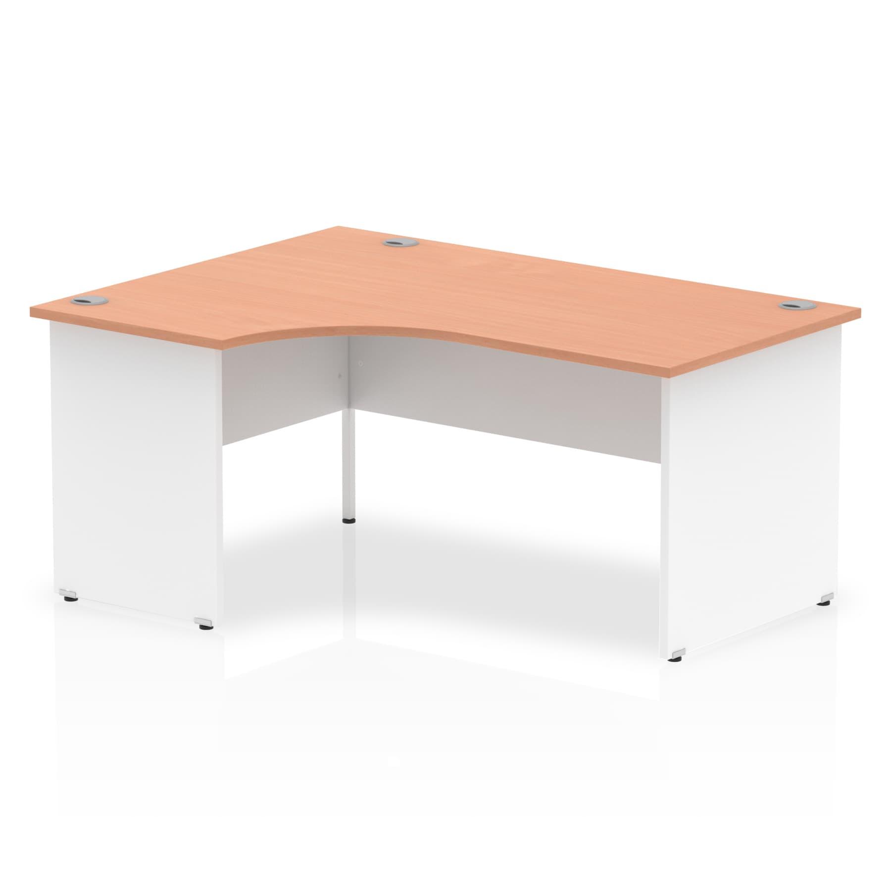 Impulse Panel End 1600 Left Hand Crescent Desk