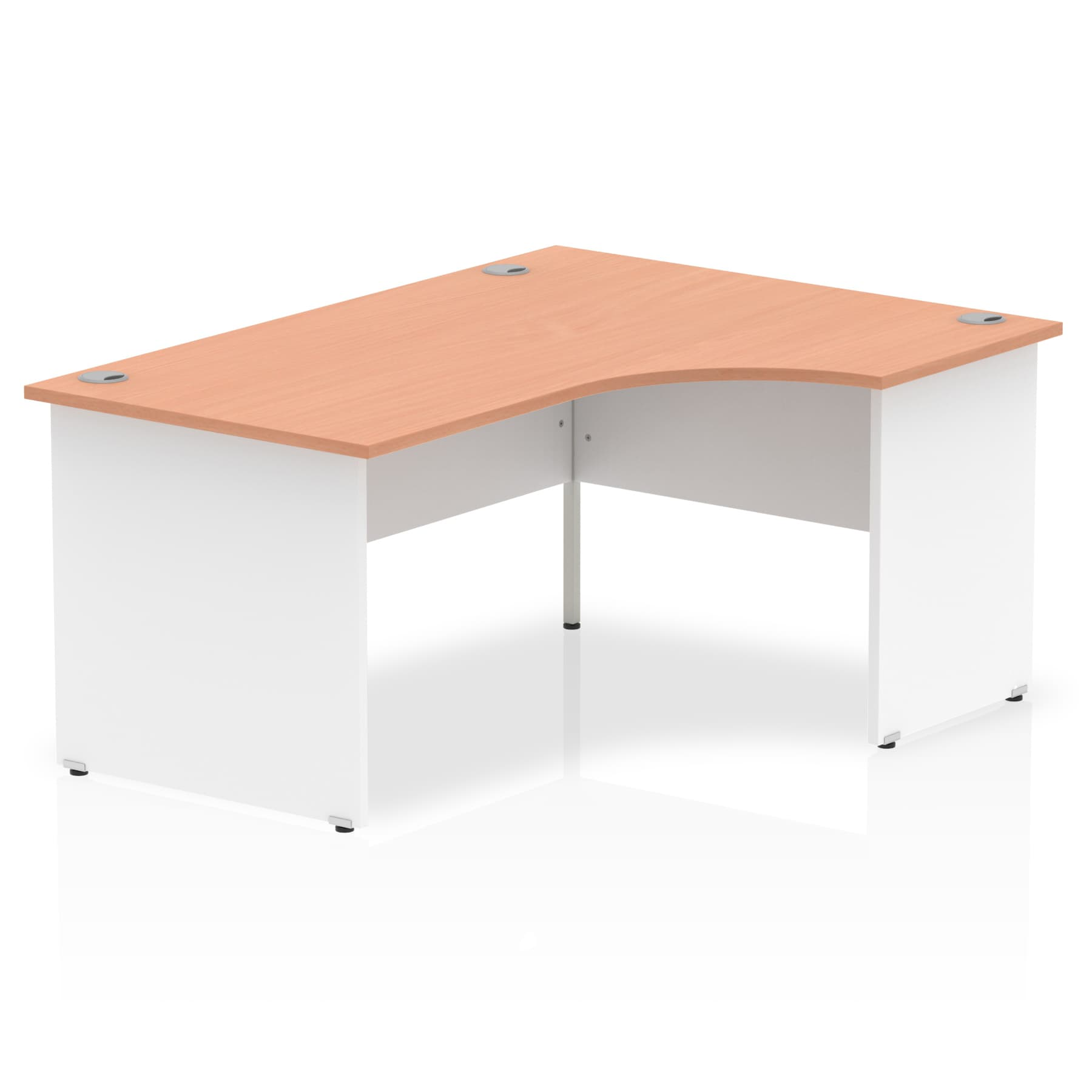 Impulse Panel End 1600 Right Hand Crescent Desk