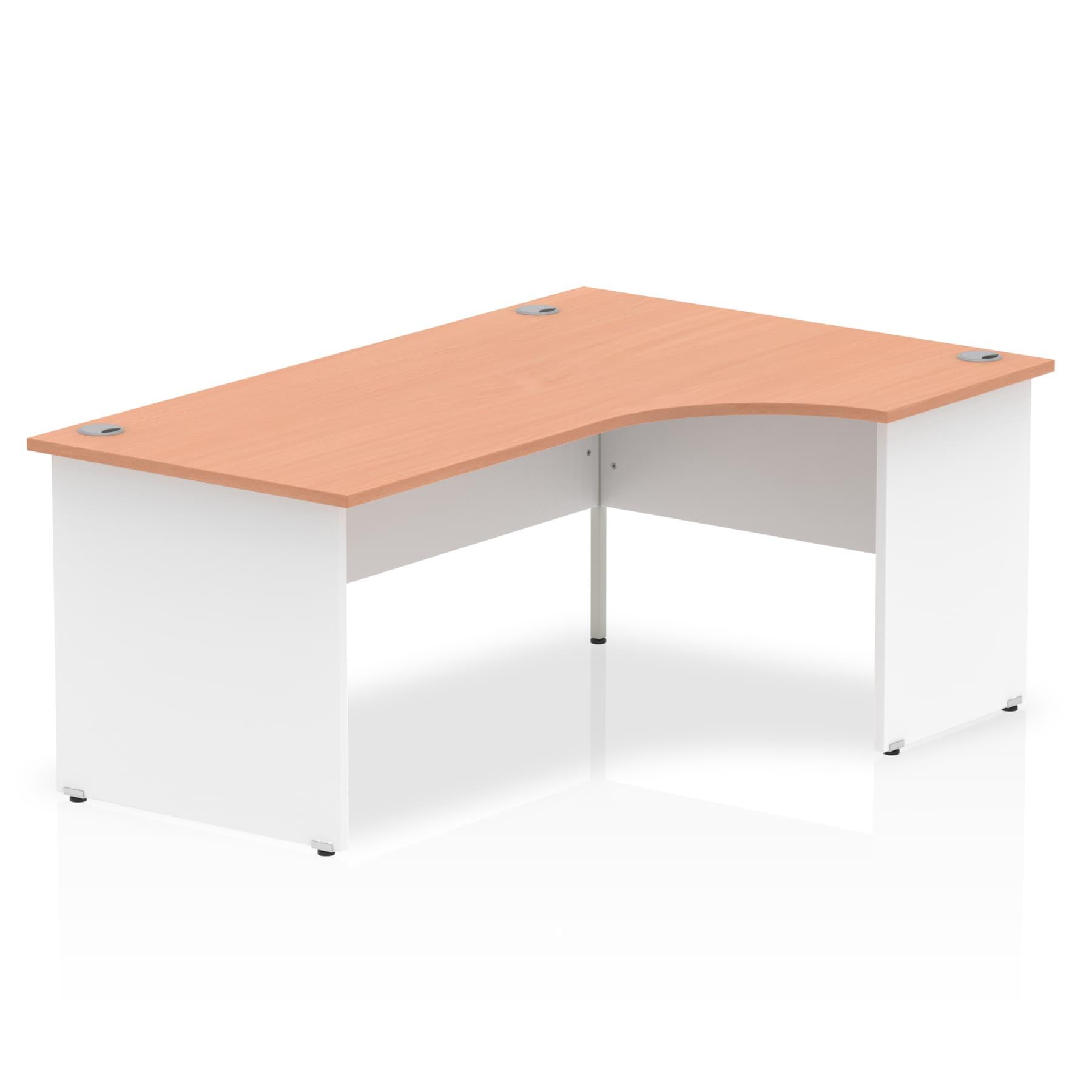 Impulse Panel End 1800 Right Hand Crescent Desk