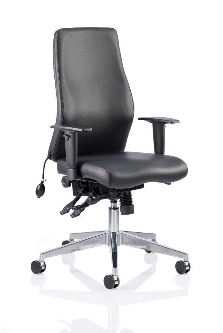 Onyx Ergo Posture Chair Bonded Leather Without Headrest