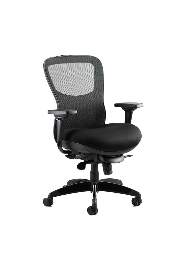 Chair Black Airmesh Seat And Mesh Back With Arms