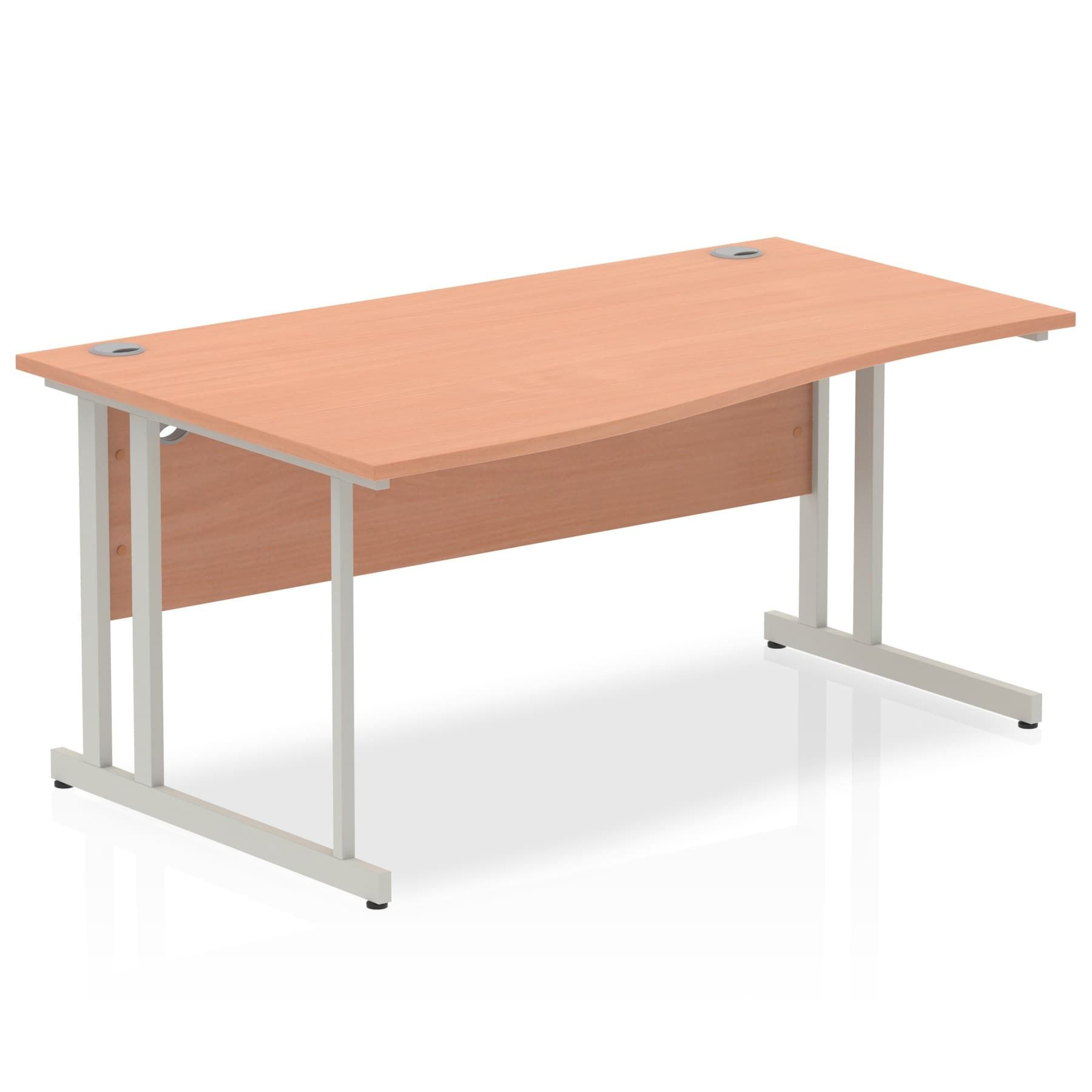 Impulse 1600 Left Hand Wave Desk with Cantilever Leg