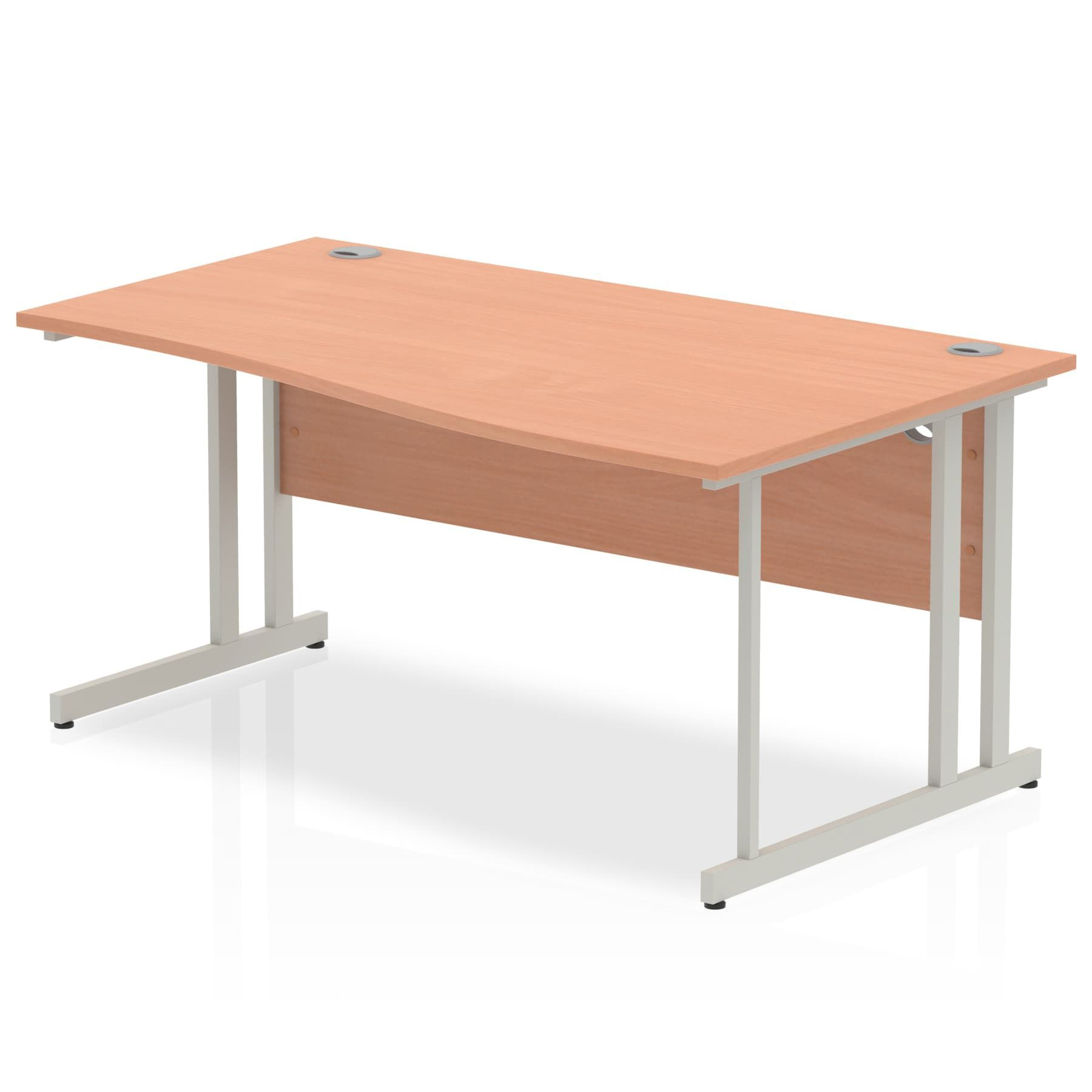 Impulse 1600 Right Hand Wave Desk with Cantilever Leg