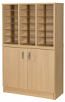 Premium Pigeonhole Unit With 18 Spaces and Cupboard