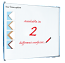 Single Sided Magnetic Whiteboard - Coated Steel with Light Wood Frame (CLONE)