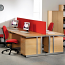 Relax Momento left & Right hand Wave Desk with silver cantilever frame