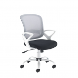 Relax Tyler mesh back operator chair with white frame