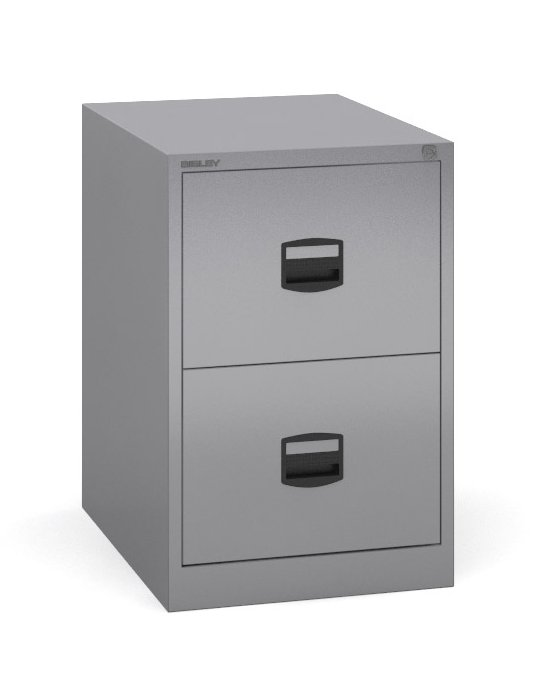 Bisley - 2 Drawer Metal Filing Cabinet
