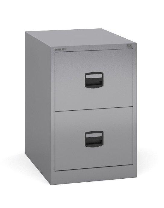 Bisley - 2 Drawer Metal Filing Cabinet