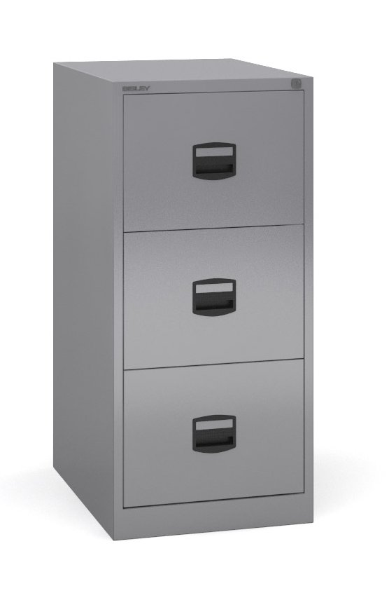 Bisley - 3 Drawer Metal Filing Cabinet