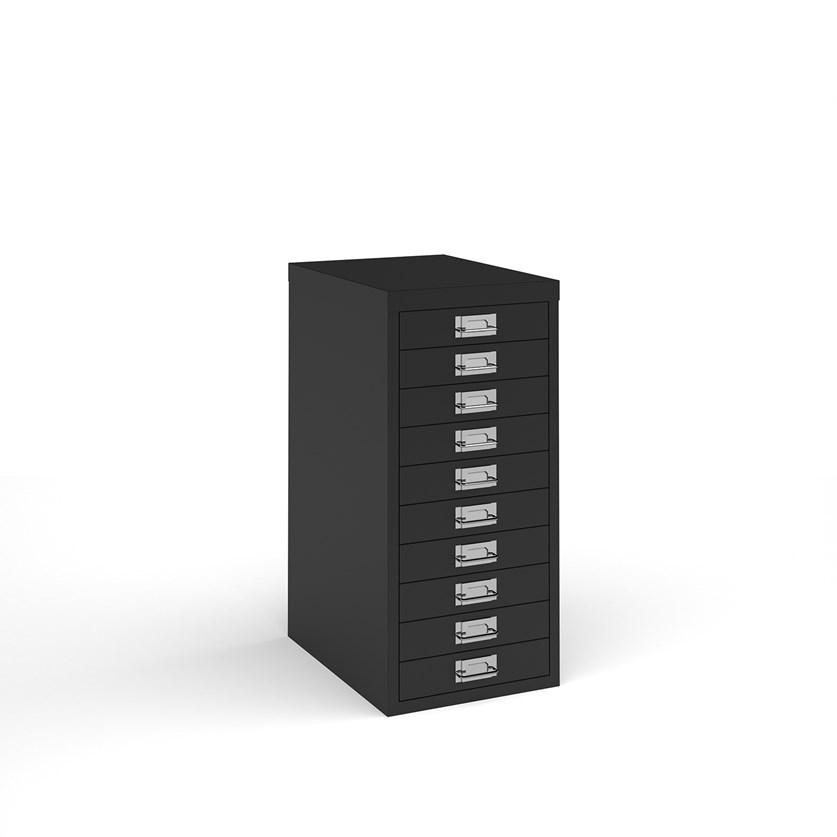 Bisley multi drawers with 10 drawers - black