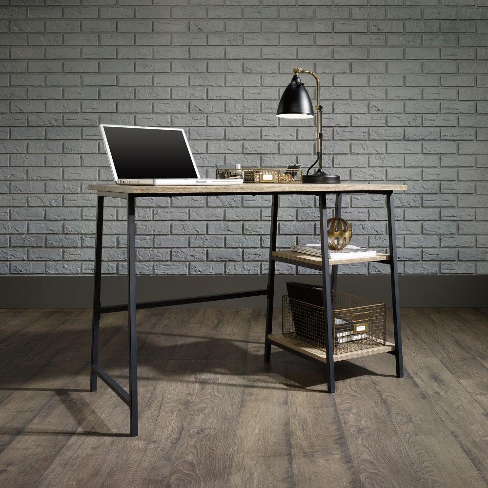 Industrial Style Bench Desk (Charter Oak Finish)